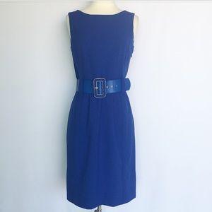 Calvin Klein Dresses & Skirts - Calvin Klein royal blue belted sheath dress