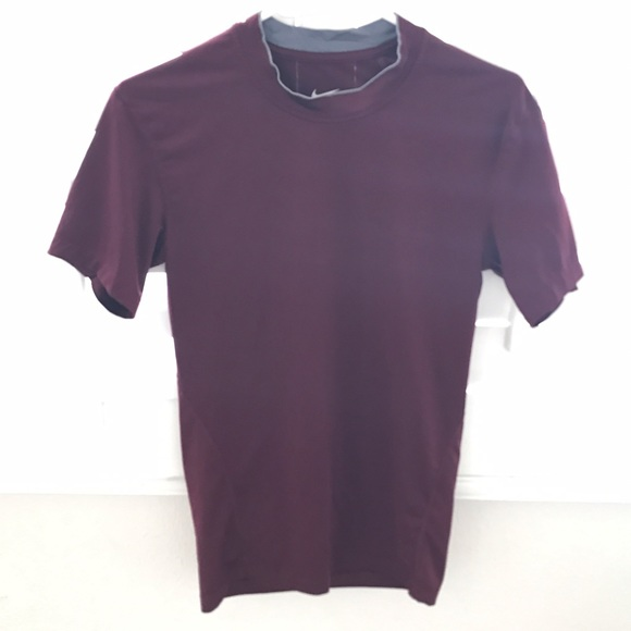 100 off nike other nike maroon dri fit short sleeve for Maroon dri fit polo shirt