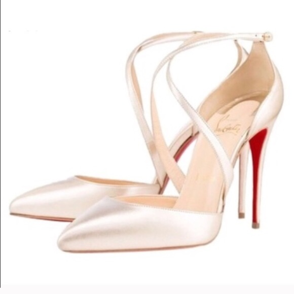 christian louboutin wedding shoe