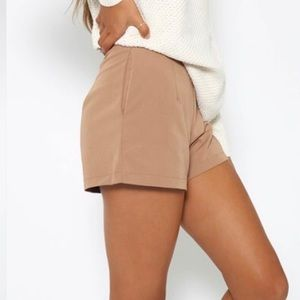 Peppermayo Shorts - Peppermayo tan high waisted shorts