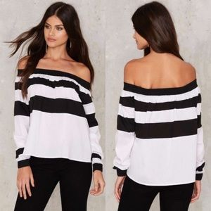 Nasty Gal Down The Line Striped Top