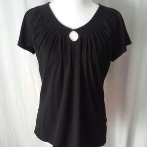 Merona Black Short Sleeve Top size XL