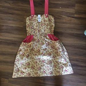 LF dress cute kawaii floral pockets tea party