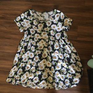 American apparel babydoll dress daisy print