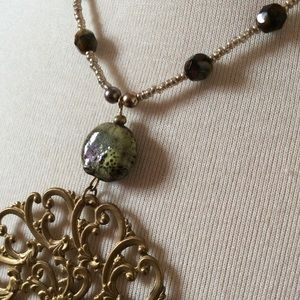Amazing Clay Handmade Filigree Pendant Necklace