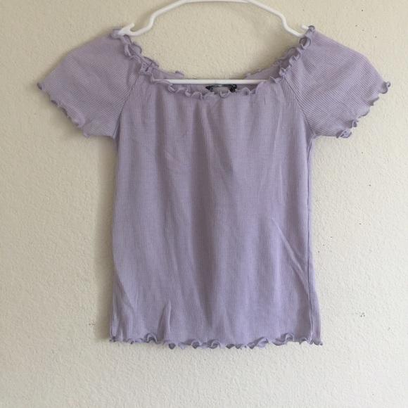 ca9fd2406ad76 Brandy Melville Lavender jessie off shoulder top