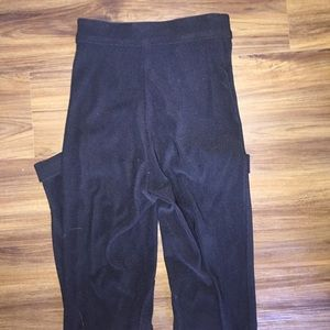 American Apparel Pants - American apparel black riding pants high waisted