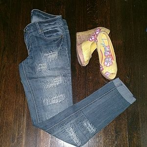 Celebrity Pink Denim - Celebrity Pink Destructed Jeans Size 5