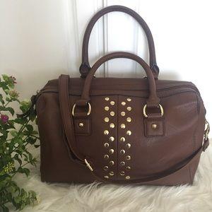Apt.9 Handbags - Apt9 Brown with Gold Studs Satchel