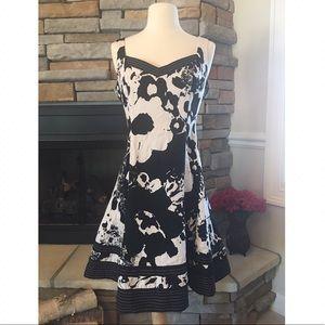 Jones New York Dresses & Skirts - Black & White A-Line Floral Dress