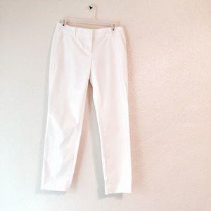 J. Crew Pants - EUC J Crew cafe capri white dress pants slacks 0