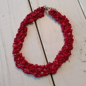 Jewelry - Red Multi-Layer Necklace