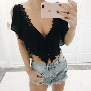 • Hailey Crochet Crop Top •