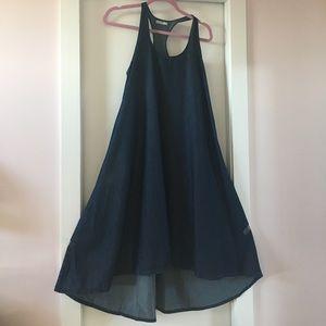 GAP Dresses & Skirts - GAP Chambray Swing Racerback Dress