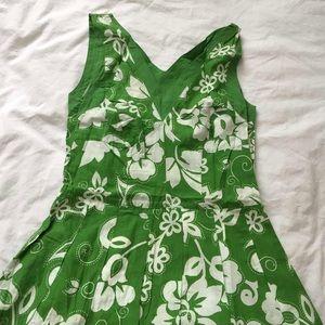 green anthro dress