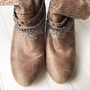 Not Rated Shoes - Not Rated Faux Leather Heeled Boots