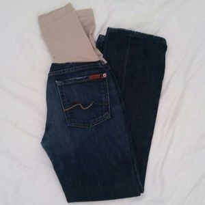 7 For All Mankind Denim - 7 for all mankind maternity jeans