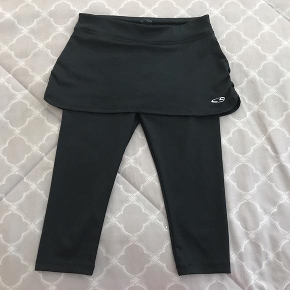 3f9de38268f23 Champion Bottoms | Black Leggings With Skirt | Poshmark