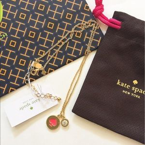 """NWT Auth Kate Spade """"Spade"""" necklace"""