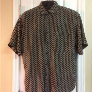 RINNOVATO 100% Silk Black Dots Shirt
