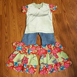Suzy T Rumba Jeans and matching top set Sz. 6x