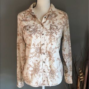 Heritage 1981 Tops - Western Style Womens Button Down Shirt