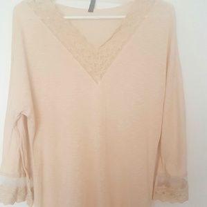 XCVI Tops - Beautiful lace tunic