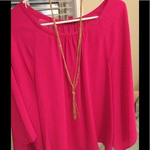 Vince Camuto top - hot pink!