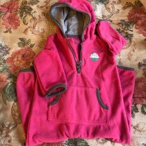 Carters girl 9m pink fleece bodysuit with hood