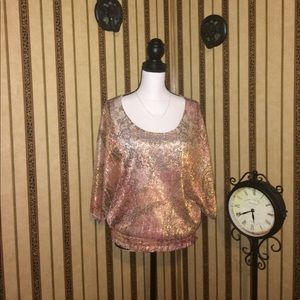 Tops - Batwing Shimmer Top