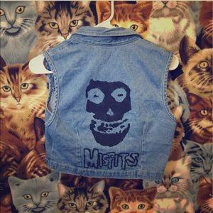 Misfits band denim vest one of a kind!