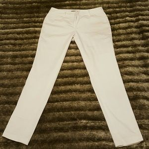 NY Collection Pants - NY Collection Classic White Skinny Pants