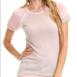 Tops - SALE! TODAY ONLY! Pink & taupe top