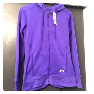 Under Armour Tops - NWT Under Armour full zip, hooded sweatshirt