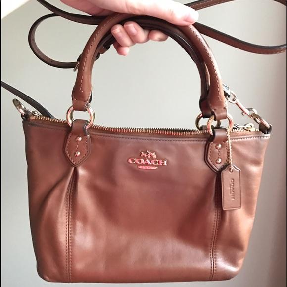 0d0ca8d0147 Coach Bags   Cognac Leather Crossbody Purse   Poshmark