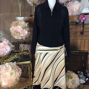 Worthington  Dresses & Skirts - Worthington tan and black skirt and jacket