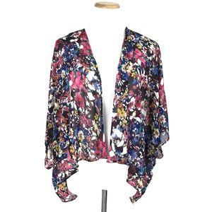 Allen B. By Allen Schwartz Tops - Allen B. Size L Floral Sheer Kimono