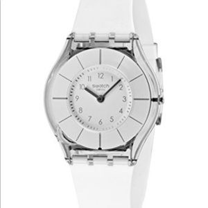 Swatch Accessories - 💯Swatch Womens White Silicone Watch. Like New