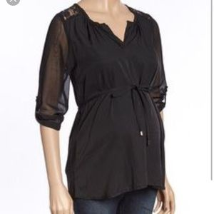 Oh! Mamma Tops - Black maternity blouse