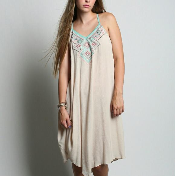 bdd24664acd Flying Tomato Dresses   Skirts - Flying Tomato Cream Aztec Dress