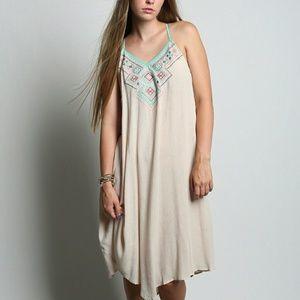 Flying Tomato Dresses & Skirts - Flying Tomato Cream Aztec Dress