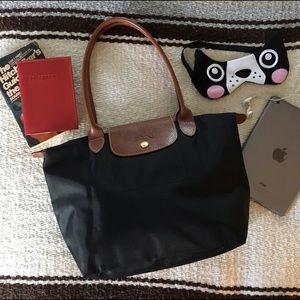 "Longchamp Handbags - Longchamp ""shopping"" tote long handles"
