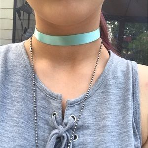 Jewelry - Handmade Pastel Blue Choker.
