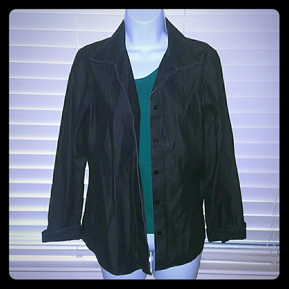 Chico's Jackets & Coats - CCO *Very Trendy Black Cotton Jacket*