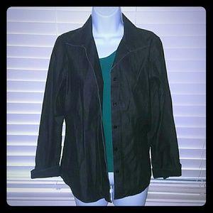 Chico's Jackets & Coats - *Very Trendy Black Cotton Jacket*