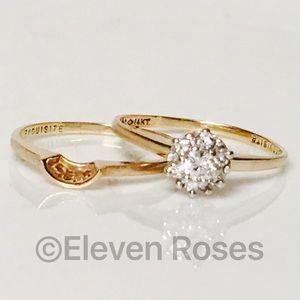 Jewelry - 14k Gold 1/3 CTW Diamond Bridal Wedding Ring Set