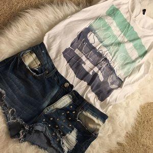 Denim - ⚡️FLASH SALE ⚡️ 🆕 Studded Denim Shorts