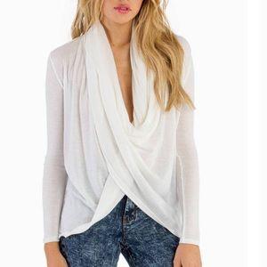 TOBI wrap shirt in WHITE