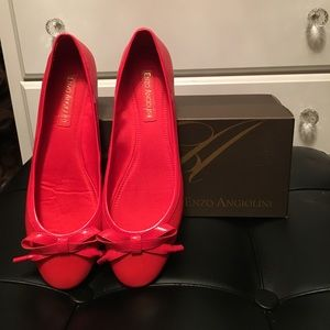 Final Sale! NWOT Red Enzo Angiolini flats