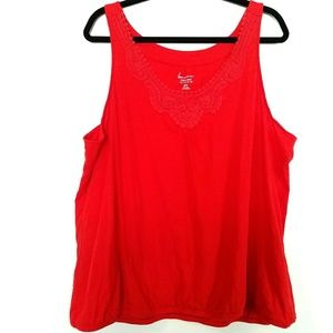 Lane Bryant Tops - Lane Bryant 26/28 Red Cotton Slub Tank Top